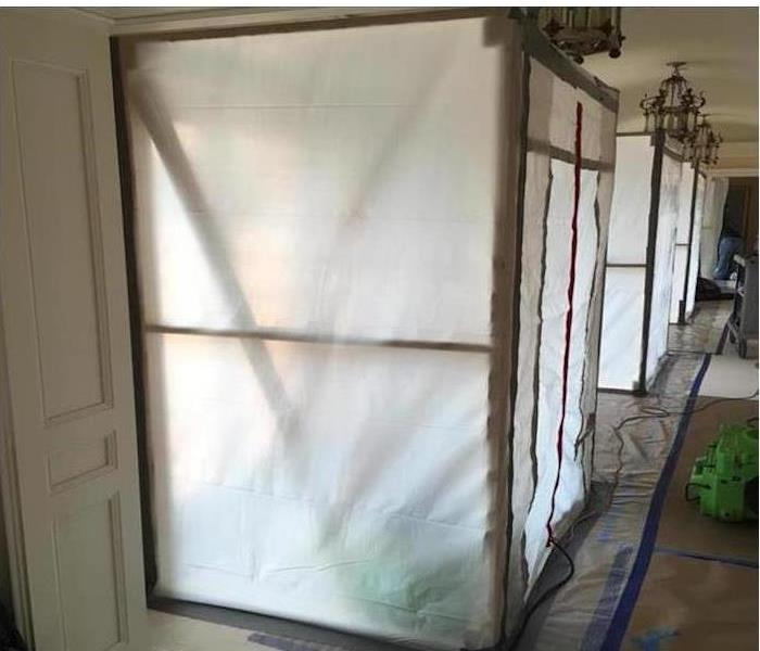 Mold Containment protective sheets.