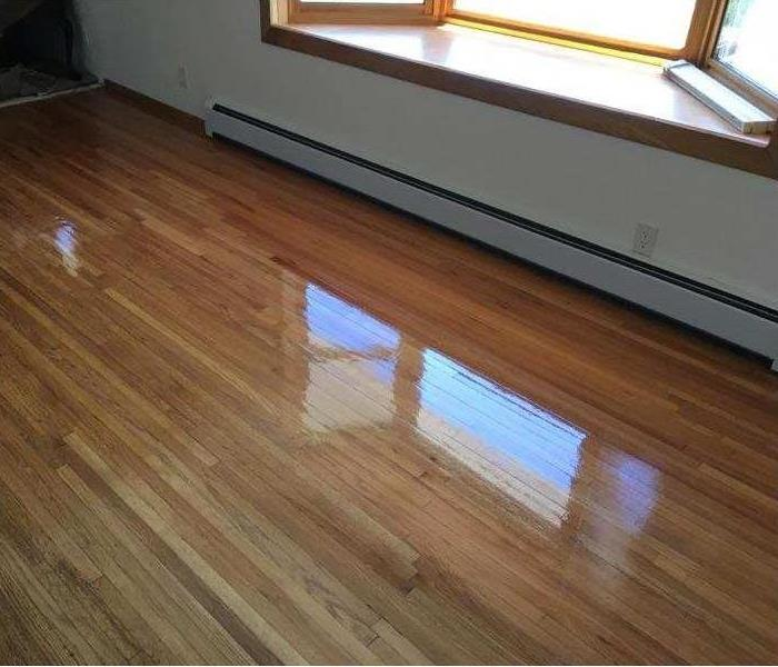Glossy hardwood floors