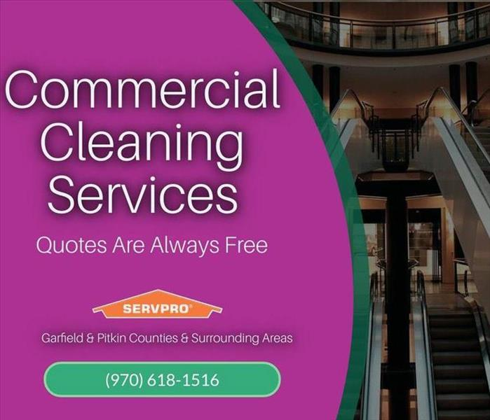 graphic commercial cleaning services SERVPRO Aspen CO area
